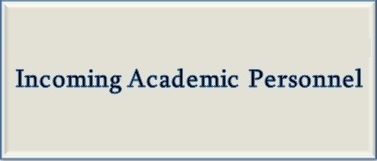 Incoming Academic personnel